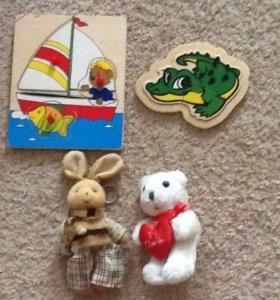 Пазлы и игрушки