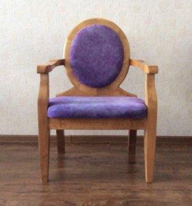 Кресло стул ручной работы из натурального дерева