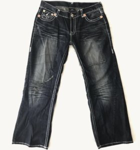 Рокерские джинсы True Religion XXL