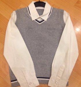 Рубаха/обманка школьная