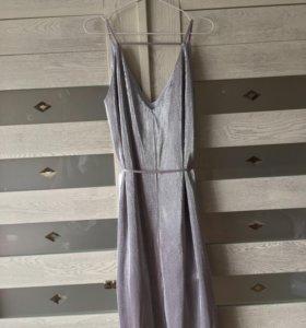 Платье серебристое TOPSHOP