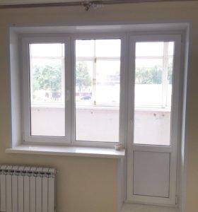 Рама и дверь балконные