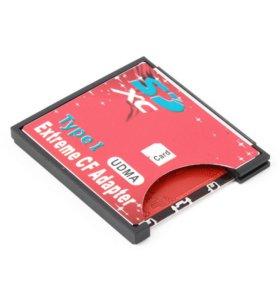 Карты памяти + Адаптер с sdhc на CF Compact Flash