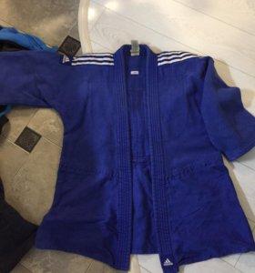 Кимоно (куртка). Adidas синяя дзюдо. Рост 160 см