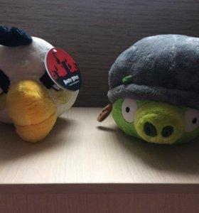 Новые мягкие игрушки Аngry birds