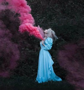 Цветной дым