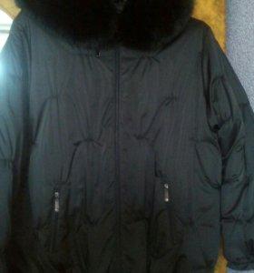 Куртка зимняя б/у 3 раза была одета.Размер 62.