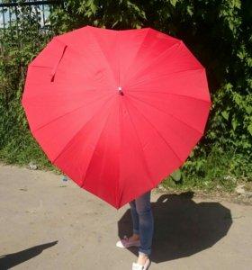 """Зонт трость """"Сердце"""""""