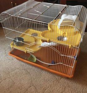 Клетки для грызунов(осталась только оранжевая)