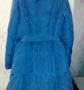 Утеплённая куртка-пальто фабричное.