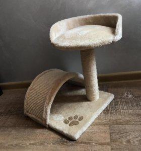 Продам когтеточку с лежанкой для маленькой кошки