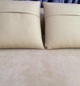 Подушечки на диван, кожзам