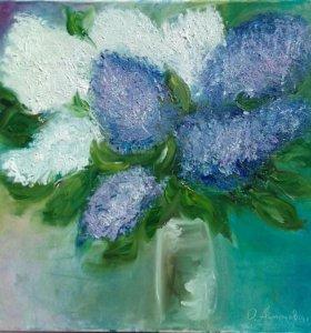 Букет Цветы Картина Масло, холст. Хороший подарок