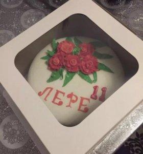 Тортик с мастикой