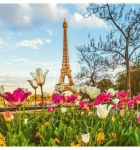 """Картина по номерам """"Париж весной"""""""