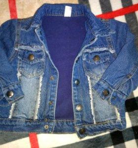 Куртка джинсовая с флисом