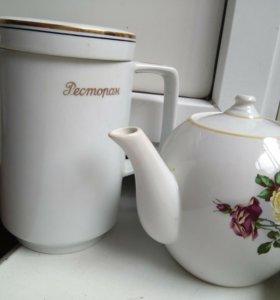 Чайник заварочный и кофейник