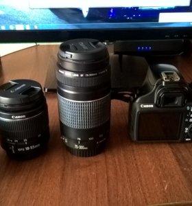 Canon EOS 1100D + 2 обьектива