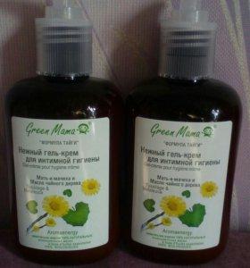Нежный крем-гель для интимной гигиены Green mama