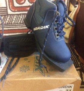 Детские лыжные ботинки 31 рр