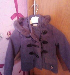 Пальто на девочку 4 года