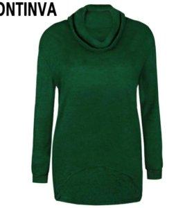 Новый пуловер ontinva цвета хаки