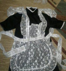 Школьный фартук и платье