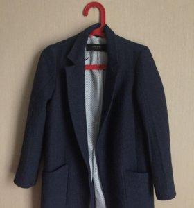 Жаккардовое пальто ZARA