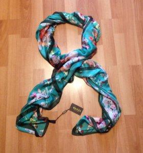 Новый шарф-палантин-платок Gucci