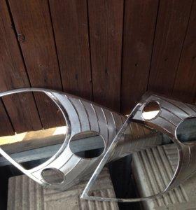 Хром накладки на фары Прадо 120