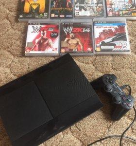 Playstation 3 Super Slim 500 GB+игры