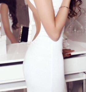 Белое платье, размер s/m