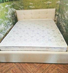 Кровать двуспальная с матрасом 160 X 200