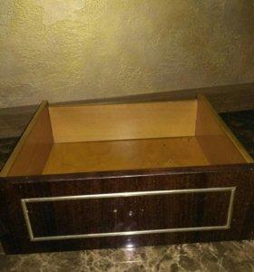 Ящик мебельный полированный винтаж