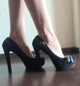 Туфли натуральная замша, кожа