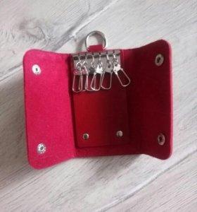 Ключница для ключей красная новая