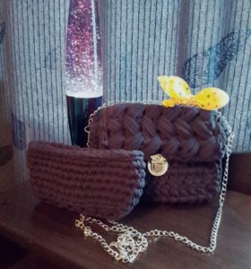 Стильная сумочка Зефирка🔥🔥🔥и косметичка!