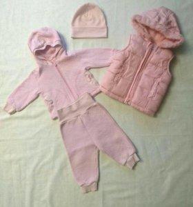 Комплект (жилет, костюм и шапочка)