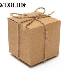 Новые подарочные коробочки 50 шт