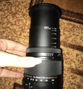 Продам объектив sigma 18-250mm