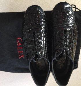 Лакированные мужские туфли для бальных танцев