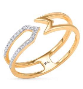Золотое кольцо с бриллиантами 17,5