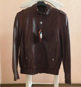Новая Кожаная куртка с бирками
