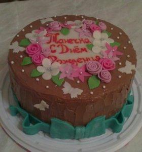 Торты от 800 руб.,муссовые торты, капкейки.