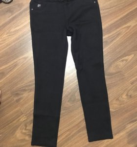 Чёрные штаны утепленные