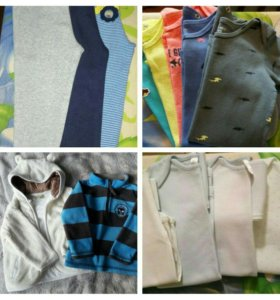 Боди, штаны (NEXT, Carters), кофты.