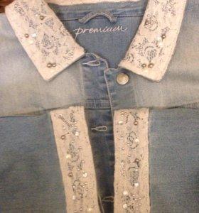 Джинсовая куртка размер 60-62