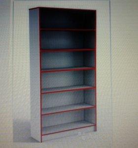 торговые металлические стелажи и деревянные шкафы