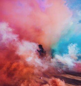 Дымовая шашка розовая
