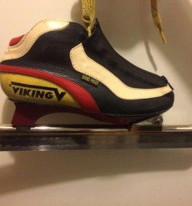 Конькобежные коньки Viking Nagano Gold, 36 размер